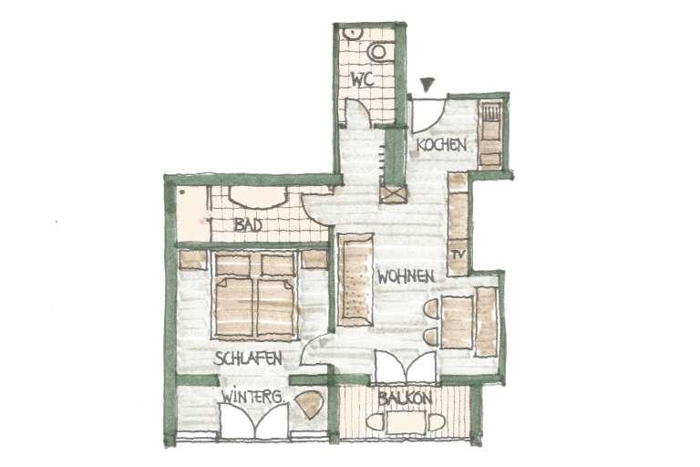 Grundriss Wohnung 2 - © as1.at