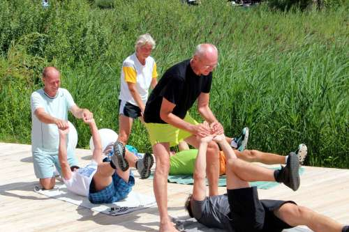Fitnessprogramm im Urlaub - © www.seehauswinkler.at